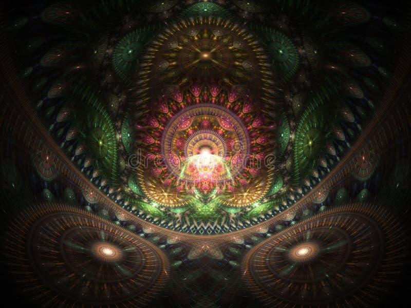 Casa ottica di arte del Buddah 03 illustrazione vettoriale