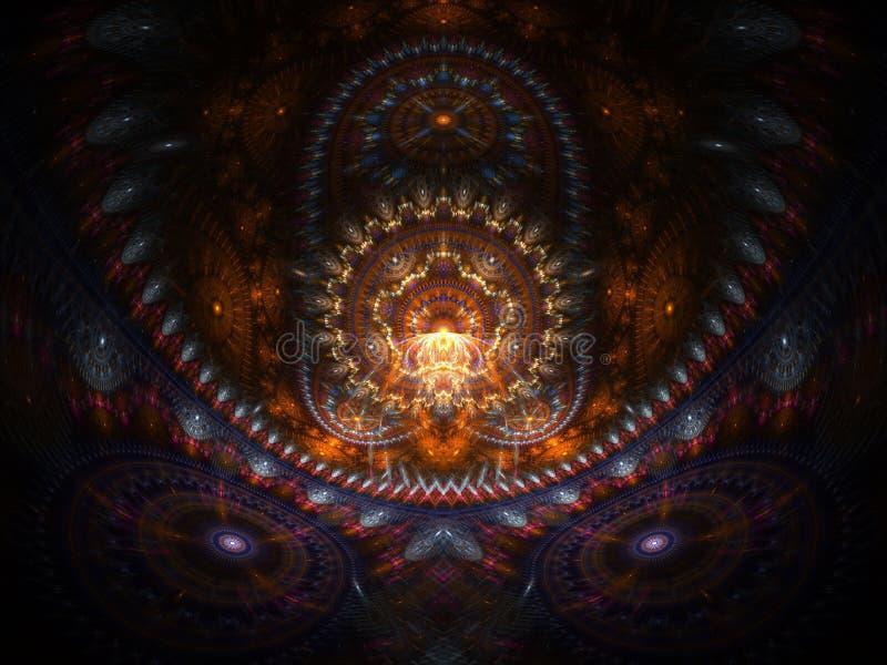 Casa ottica di arte del Buddah 06 illustrazione di stock