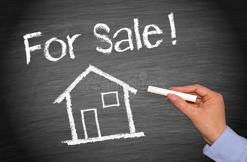 Casa ou casa para a venda imagem de stock