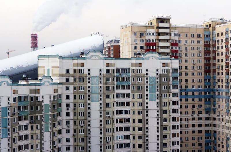 Casa ou construção urbana, fachada fotografia de stock