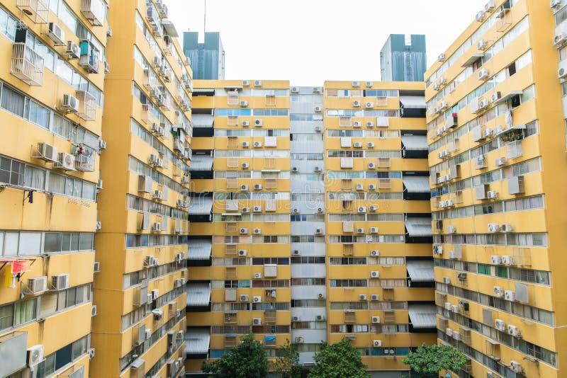 Casa ou construção urbana, teste padrão da fachada foto de stock