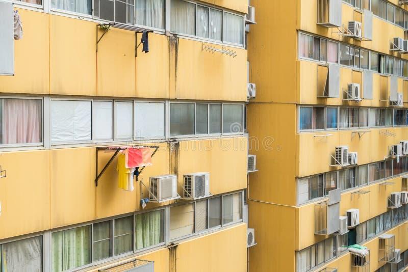 Casa ou construção urbana, teste padrão da fachada imagens de stock royalty free