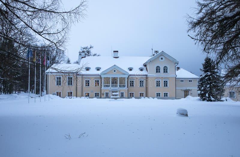 Casa padronale di Vihula in Estonia immagine stock libera da diritti