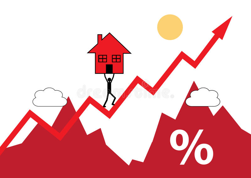 Casa para arriba ilustración del vector