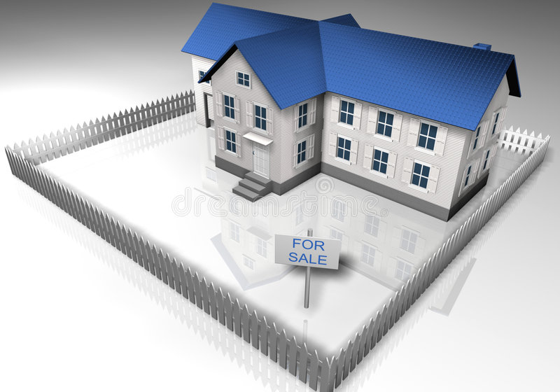 Casa para la venta stock de ilustración