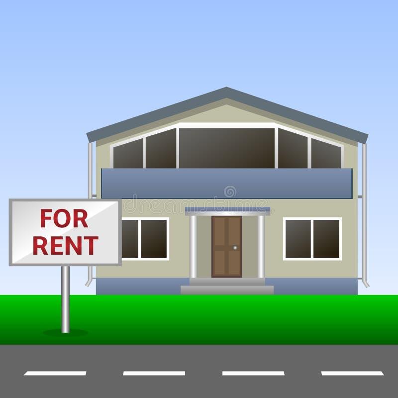 Casa para o aluguel ilustração stock