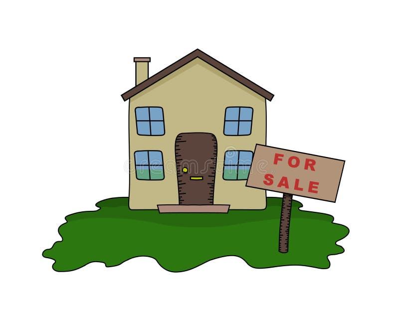 Download Casa para a venda ilustração stock. Ilustração de propriedade - 538002