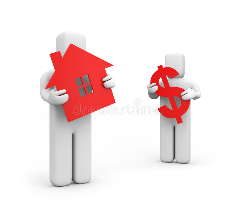 A casa para a venda ilustração do vetor