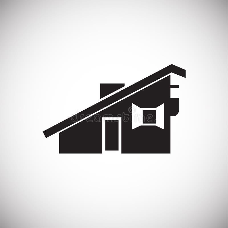 Casa pequena da cidade no fundo branco ilustração royalty free