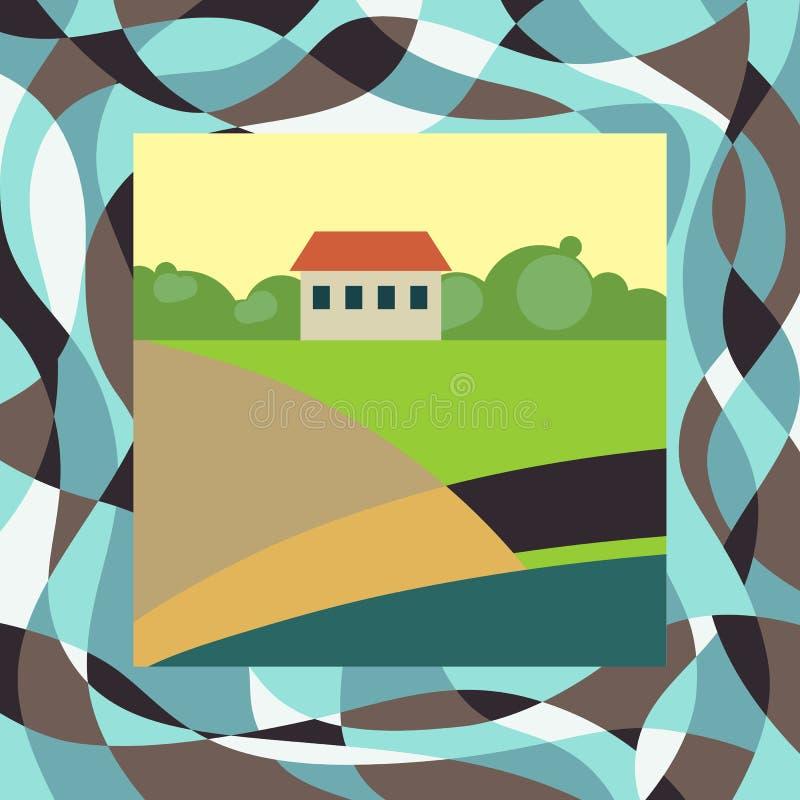 Casa pequena da exploração agrícola ilustração royalty free