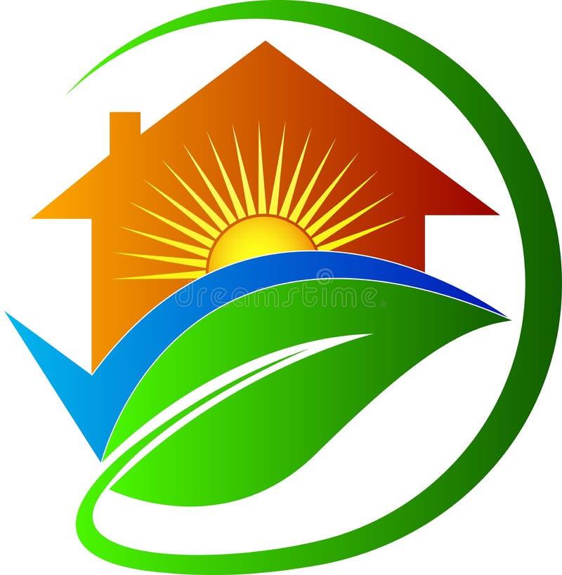 Casa per futuro luminoso illustrazione vettoriale