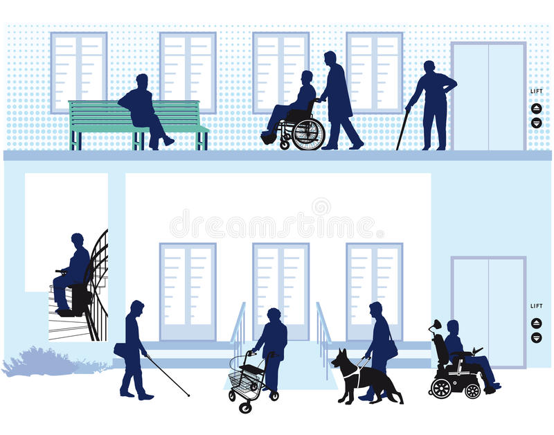 Casa per la gente con l'inabilità illustrazione vettoriale