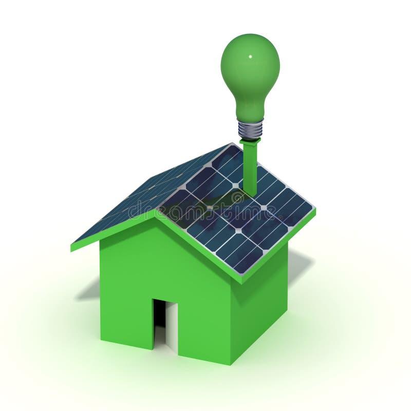 Casa Photovoltaic ilustração do vetor