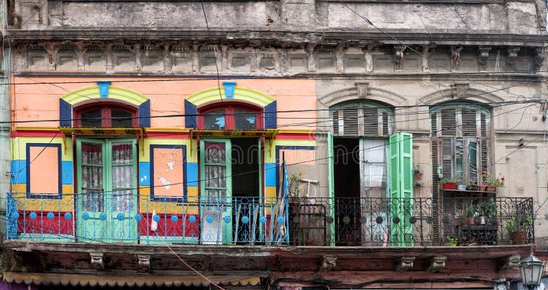 Casa pintada boca del La en Buenos Aires fotos de archivo libres de regalías