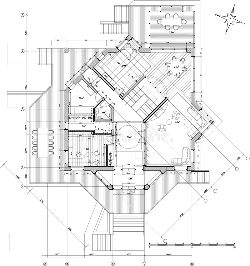 Casa - plan de la configuración ilustración del vector
