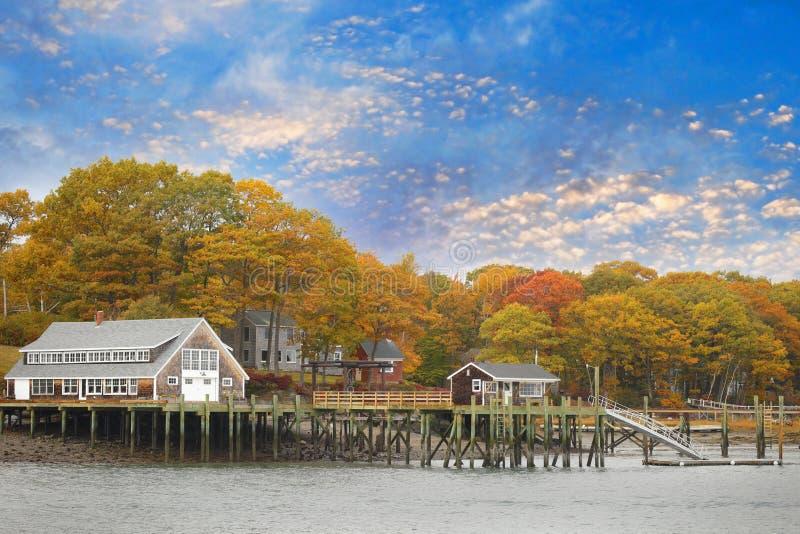 Casa a Portland Maine immagini stock