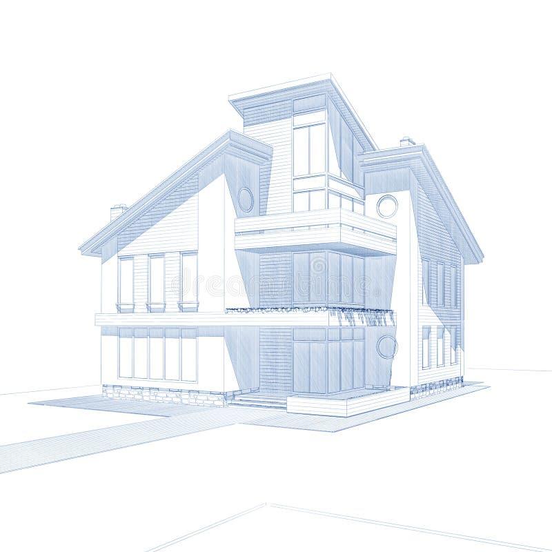 Casa privada ilustración del vector