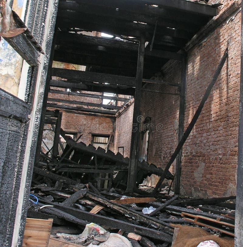 Casa queimada fotos de stock royalty free