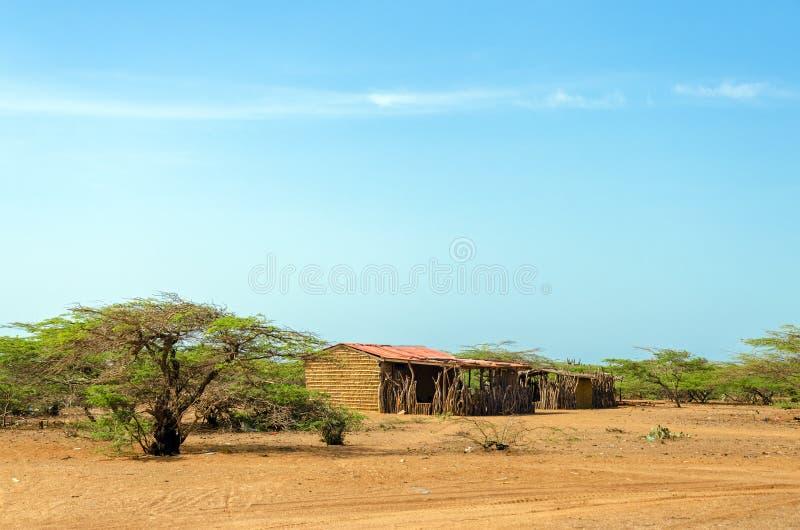 Casa rústica no La Guajira imagens de stock