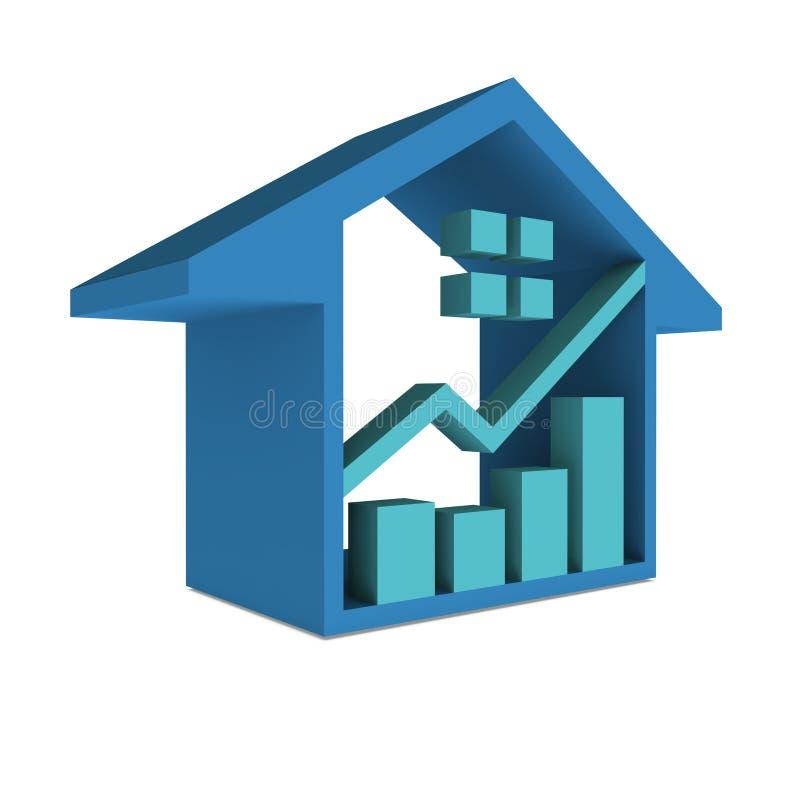 Casa Real Estate ilustração stock