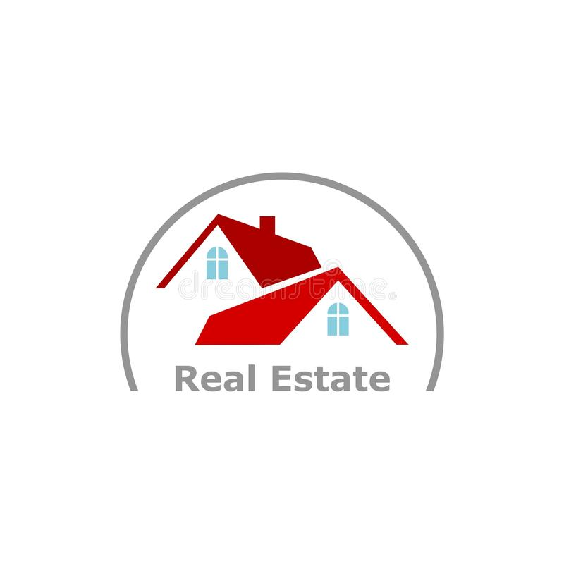 Casa Real Estate Logo Template Illustration Design del círculo stock de ilustración