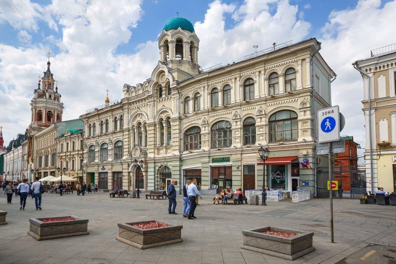 Casa rentável no antigo monastério do St Nicholas Greek Moscovo, Rússia fotografia de stock royalty free