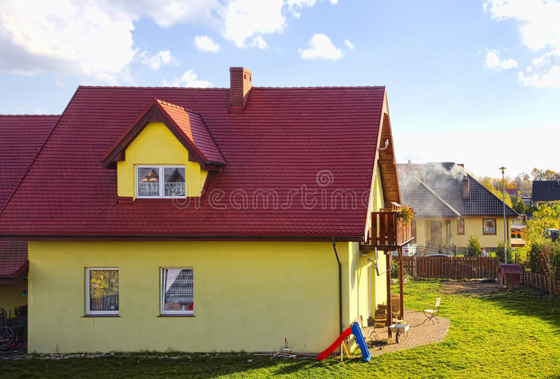 Casa residencial fotos de stock royalty free