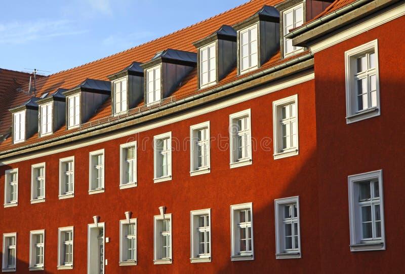 Casa residencial alemana típica fotos de archivo libres de regalías