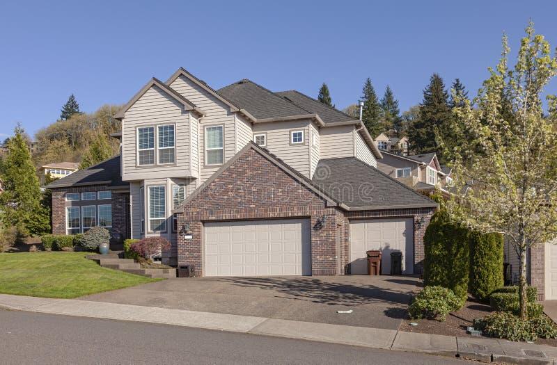 Casa residencial de gestión Clackamas Oregon fotografía de archivo libre de regalías