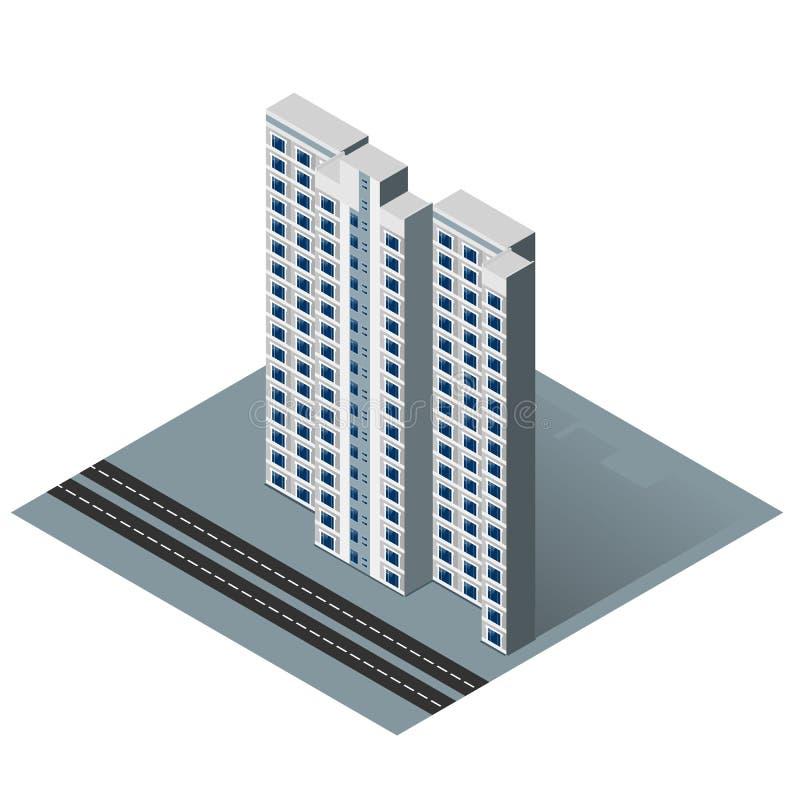 Casa residencial isométrica libre illustration