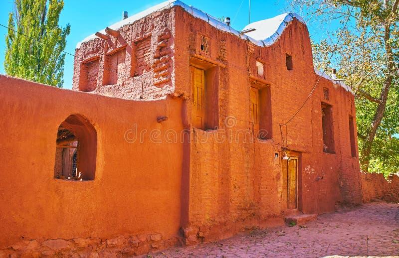 casa residencial medieval, Abyaneh, Irã imagens de stock royalty free
