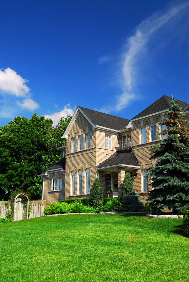 Casa residenziale fotografie stock libere da diritti