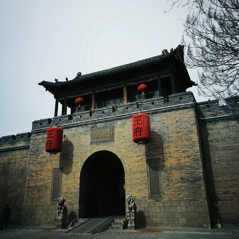 casa residenziale della famiglia in Shanxi immagini stock libere da diritti