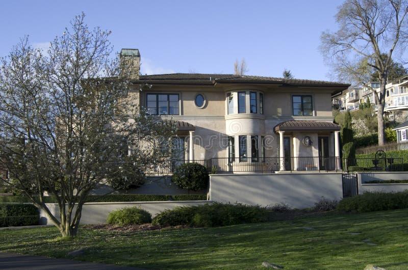 Casa rica Seattle da família imagem de stock