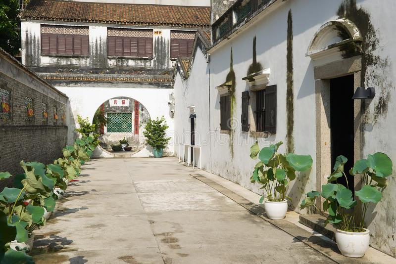Casa rica tradicional histórica do mandarino em Macau, China imagens de stock