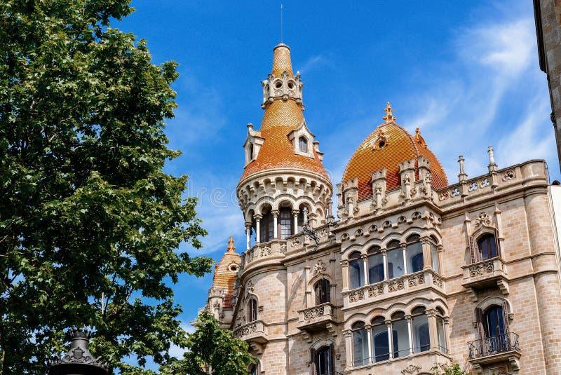 Casa Rocamora eller Casa Lleo Morera som byggs av arkivfoto