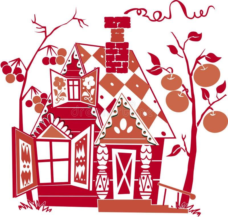 Casa roja ilustración del vector