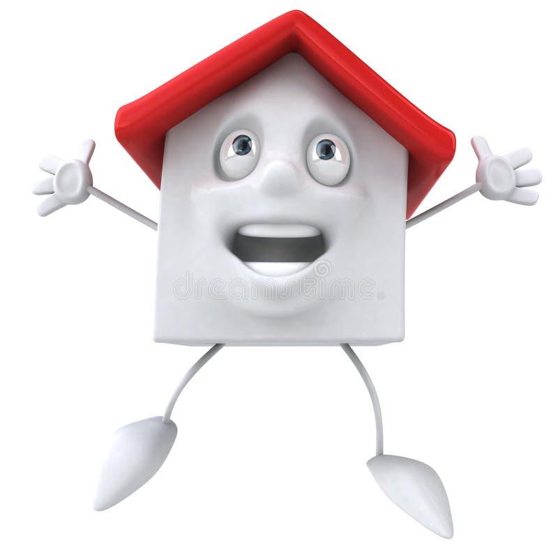 Casa roja stock de ilustración