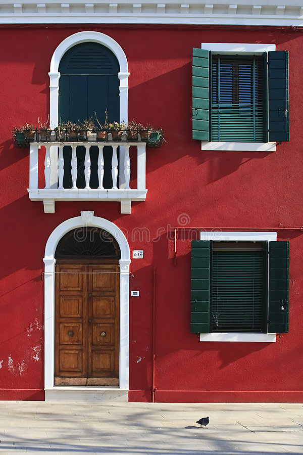 Casa roja foto de archivo libre de regalías