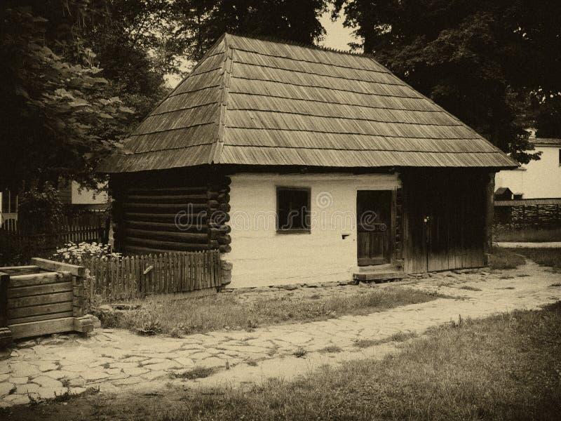 Casa romena tradicional fotografia de stock royalty free