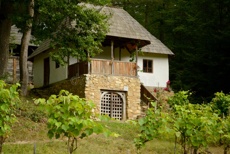 Casa romena tradicional fotos de stock royalty free
