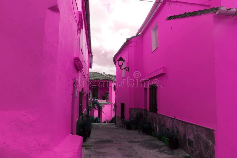 Casa rosa immagini stock