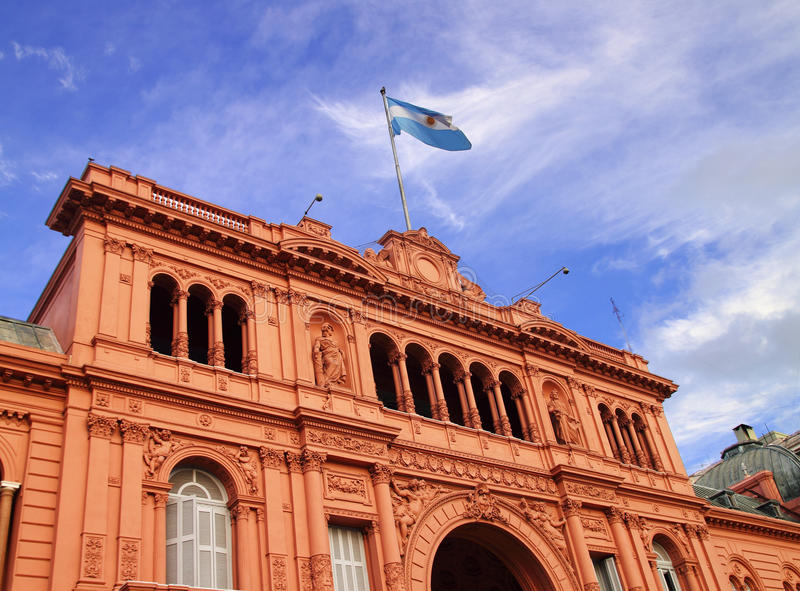 Casa Rosada. The Casa Rosada government house of Buenos Aires, Argentina royalty free stock photos