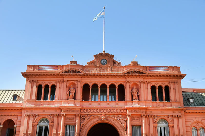 Casa Rosada. The Casa Rosada, the governmental building in Buenos Aires, the Capital of Argentina stock photos