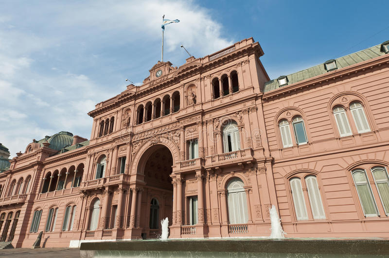 Casa Rosada at Buenos Aires. Casa Rosada building facade located at Mayo square stock image