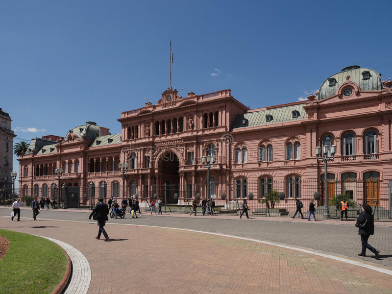 Casa Rosada, Buenos Aires. Buenos Aires, Argentina - 19th October 2015: Casa Rosada, presidential home royalty free stock photography