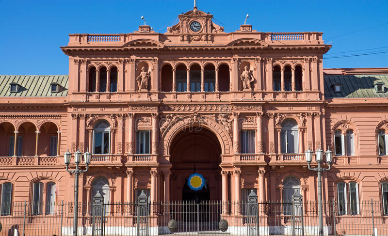 The Casa Rosada in Buenos Aires. The Casa Rosada in Buenis Aires, Argentina royalty free stock images