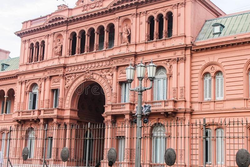 Casa Rosada Buenos Aires Building Archiyectural. Outdoor Famous Rosada Located stock photography