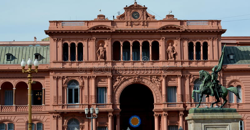 Casa Rosada, Buenos Aires. Partial view of La Casa Rosada, seat of the Government of Argentina royalty free stock photo
