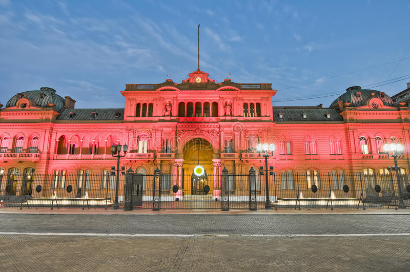 Casa Rosada building at Buenos Aires, Argentina. Casa Rosada building facade located at Mayo square stock photography